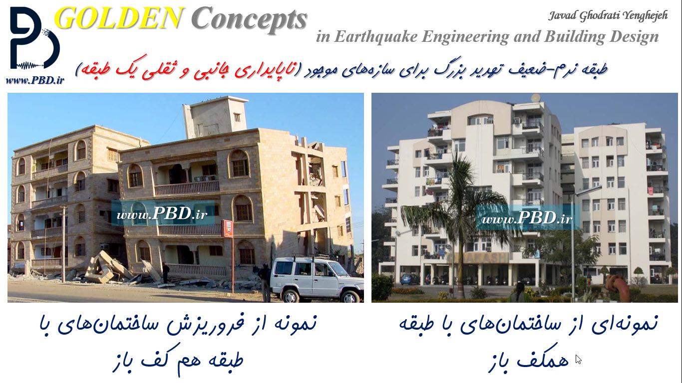کاربری پارگینگ در طبقه هم کف ساختمان تهدید بزرگ برای ناپایداری ثقلی و جانبی ساختمان