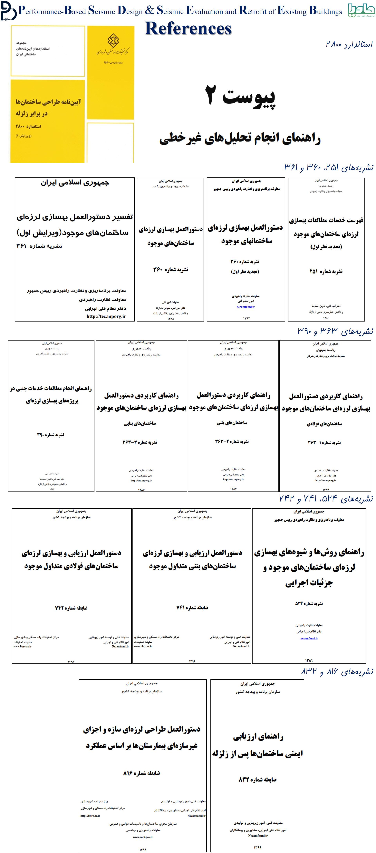 آئین نامه ها و دستورالعمل های بهسازی لرزه ای و طراحی عملکردی ایران