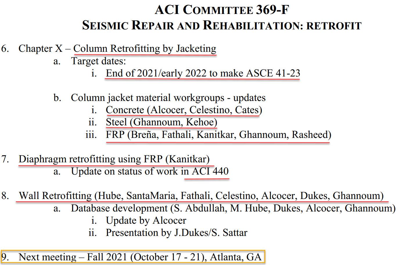 مدلهای رفتاری برای مقاومسازی ستونها، دیافراگمها و دیوارها  که وارد ASCE 41-23 خواهد شد